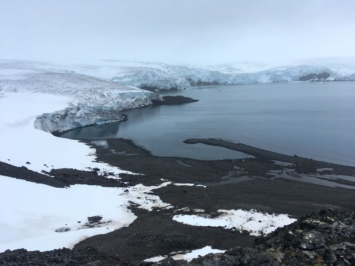 The Collins glacier on King George Island has retreated in the last 10 years and shows signs of fragility, in the Antarctic on February 2, 2018.