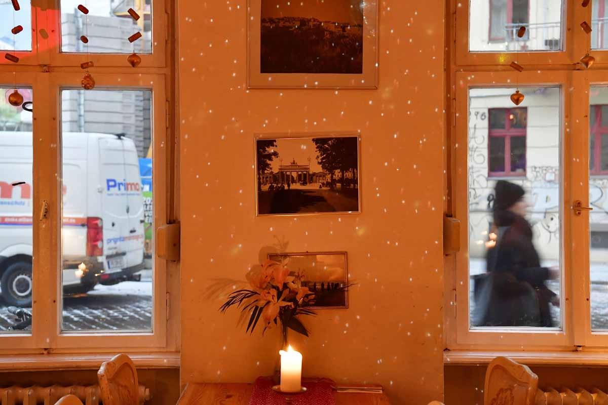 nside view taken on January 5, 2017 shows the Yafo restaurant, offering Israeli food on the Gormannstrasse in Berlin. It is run by a Berliner and a team from Tel Aviv who were drawn by an intense cultural exchange that's developed between the two cities.