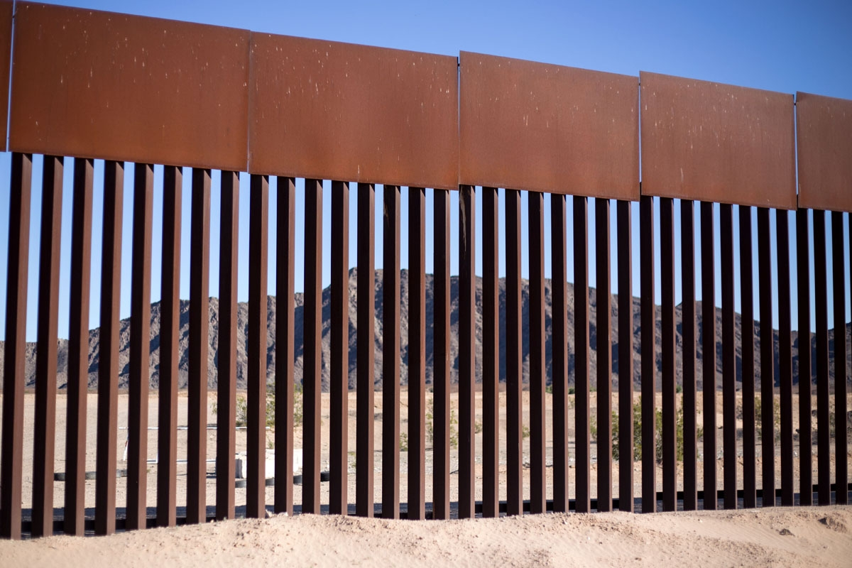 A section of the US/Mexico border fence is seen at Los Algodones, on February 15, 2017, northwestern Mexico.