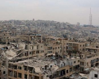 Una zona de Alepo bajo control rebelde, el 24 de noviembre de 2014